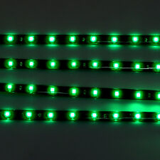 Green 4pcs 30CM/15 LED Car Motors Truck Flexible Strip Light Waterproof 12V