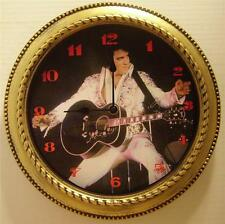"ELVIS PRESLEY 12"" WALL CLOCK - ""WHITE JUMPSUIT"" - NEW IN BOX"