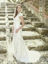Allure Bridals Romance 2455 Lace Wedding Dress Size 6