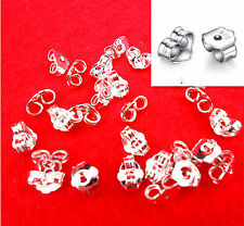 20PCS FREE SHIPPING 925 Sterling Silver BACK STOPPERS Earrings Jewelry Findings