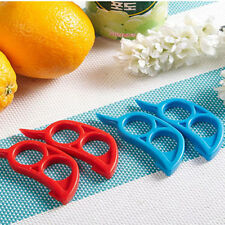4pcs Orange Citrus Peeler Remover Slicer Fruit Stripping Kitchen Tool