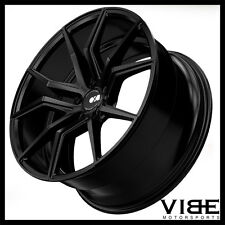 "19"" 20"" XO VERONA BLACK CONCAVE WHEELS RIMS FITS CHEVROLET C6 Z06 CORVETTE"
