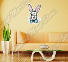 "White Rabbit Bunny Funny Animal Easter Wall Sticker Room Interior Decor 18""X25"""