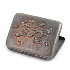 New Chinese Dragon Pure Copper Metal Cigarette Case Hold 16 Cigarettes
