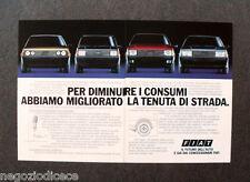 [GCG]  N233 - Advertising Pubblicità - 1984 - FIAT , LA TENUTA DI STRADA