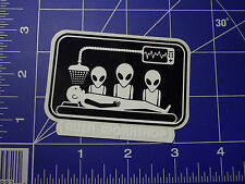 vintage RARE 90's Alien Workshop Mind Control abduction skateboard sticker