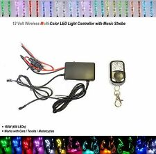 1x Motorcycle Lighting Strip Kit LED RGB 15 Color Remote Accent Music Controller