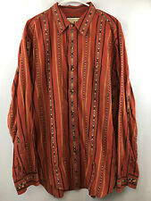 The Territory Ahead Multi-Color Cotton Native Tribal Print Long Sleeve Shirt XL