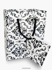 20 Small Black and White Damask Favor and Gift Bags - 3 x 2 x 3 1/2 Inches