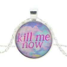 Ahora me matas cristal camafeo collar colgante de Pastel Goth Suave Grunge Regalo Genial