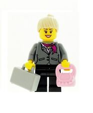 LEGO Business Girl Female Office Worker with Briefcase and Pink Handbag NEW