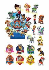 17 PRECUT PAW PATROL STAND UP EDIBLE CAKE CUPCAKE SCENE WAFER RICE CARD TOPPERS
