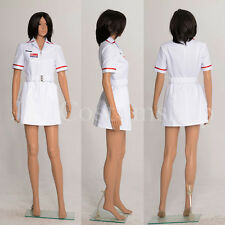 Batman Joker Nurse White Uniform Dress Coat Costume  Custom Made