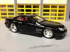 "1/64 Mercedes-Benz SL 55 AMG in Black with Red/Gray Int with 16""&19"" Wheels"