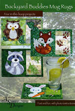 BACKYARD BUDDIES MUG RUGS MACHINE EMBROIDERY CD, From Amelie Scott Designs NEW