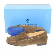 Mens SUTOR MANTELLASSI Brown Suede Fringe Moccasins Loafers Shoes 8 D $750!