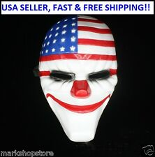 New 2015 Halloween PAYDAY 2 Dallas Mask Heist Joker Costume Props Cosplay Mask