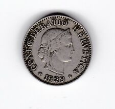 1929 Switzerland 5 Rappen Coin C-229
