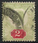 GB KEVII 1902-13, 2d Green And Red Used #D8549A