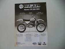 advertising Pubblicità 1979 MOTO BETA CR 250/500