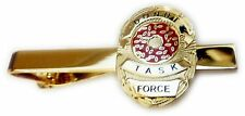 DONUT TASK FORCE Police SWAT Sheriff CIA Badge Suit Tie Bar Clip