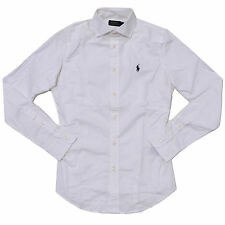 Polo Ralph Lauren Shirt Womens Button Up Woven Stretch Long Sleeve Poplin New