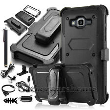 For Samsung Galaxy Grand Prime G530 Hybrid Rubber Holster Case Cover Accessories
