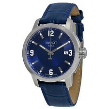 Tissot PRC 200 Quartz Blue Dial Blue Leather Sport Mens Watch T0554101604700