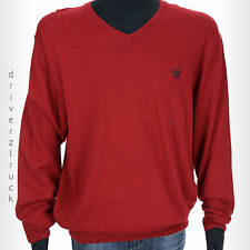 CHAPS by Ralph Lauren Men's New! SMALL V-Neck RED SWEATER Cotton Cashmere Blend
