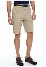 NWT Made Cam Newton Plain Front Cotton & Spandex Khaki Shorts Sz. 48 $60. msrp