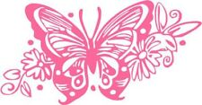 "Tribal Butterfly Decal Sticker Car Truck Window- 6"" Wide White Color"