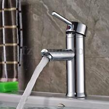 Chrome Brass Bathroom Basin Tap Mixer Sink Faucet Single Handle Lever With Hose