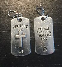 Tag Origami Owl Style Fear Not Blessed Inspire God Love Dangle Charm Protect Me
