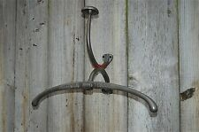 HOTEL PARIS cast iron vintage coat rack valet wall bracket top hat coathook