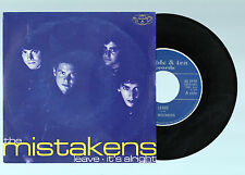 THE MISTAKENS Leave/It's Alright 1998 45 Single la coruña galicia subterfuge