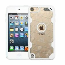 For Apple iPod Touch 5th Gen/6th Gen Clear White Hard TPU Crystal Case