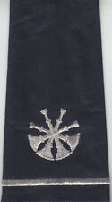 2 Fire Assistant/Deputy Chief Epaulet Shoulder Boards 4 Bugles Silver/Midnight