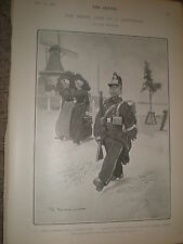 The Seven Ages of a Dutchman The Soldier Tom Browne 1902 print ref Z