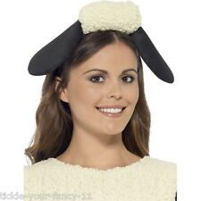 Women's Girls Licensed Shaun The Sheep Headband Black & White Fancy Dress Film