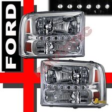99-04 Ford F-250 F-350 Super Duty 00-04 Excursion LED Facelift Headlights