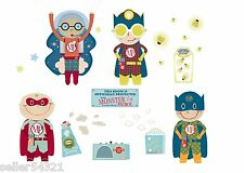 WallCandy Arts - Monsters Be-Gone Kit - Peel & Stick Removable Wall Decals