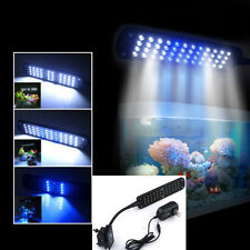 Hot 48 LED 2 Mode Fish Tank Aquarium Plant Grow Clip White Blue Light Lamp USA