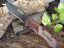 """Personalized Laser Engraved Pocket Knife - Black Blade 8"""" TF-800BWD"""