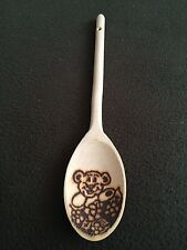 Pyrograved hand crafted wooden spoon