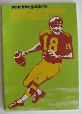 """1980 """"Your Free Guide To Monday Night Football"""", Small Easy-To-Read Booklet"""