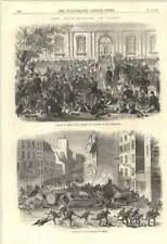 1870 paris les perturbations des barricades dans le faubourg du temple