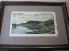 "Benjamin Williams Leader ""Wooded Banks Of The Thames"" Etching Print & Framed"