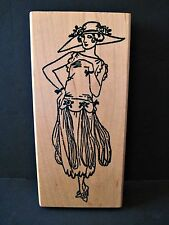 Me & Carrie Lou Rubber Stamp 1920s Fashion Vintage Woman Big Hat Flapper Dress