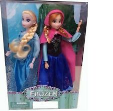 HOT! 2Pcs/Set 33CM Dolls Princess Frozen Cute Elsa Anna Frozen Toys Fantasy Gift