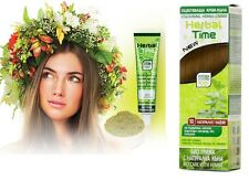 NATURAL BROWN HERBAL TIME 100% NATURAL COLORING HENNA CREAM DYE  Ready for use